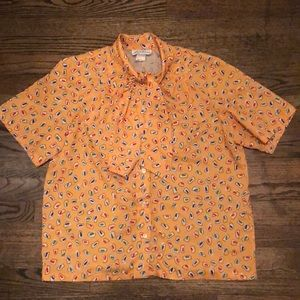 Vintage Button-up with Tie